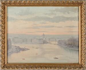 Motiv över Skeppsholmen Och Blasieholmen I Stockholm by Per COLLIJN