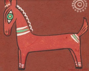 Horse by Jamini ROY