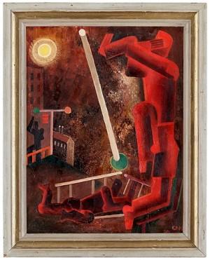 Röd Figur by Gösta 'Gan' ADRIAN-NILSSON