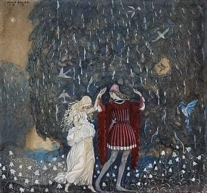 Lena Och Riddaren Dansa by John BAUER