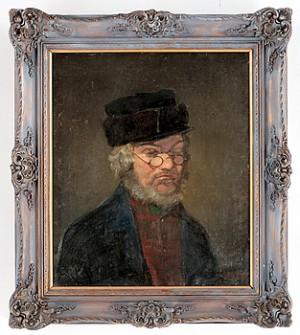 Porträtt Av Man I Hatt Och Glasögon by Carl Gustaf HELLQVIST