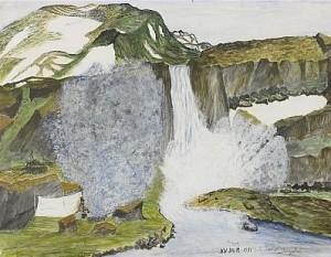Vattenfall by Nils Nilsson (Sami Artist) SKUM