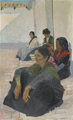 Spanjorska På Huk - Gata I Triana by Carl WILHELMSON
