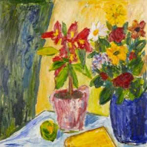 Stilleben Med Blommor I Krus by Ivan IVARSON
