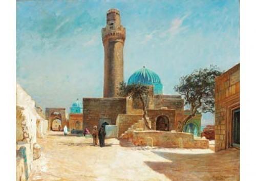 Motiv Från Kaukasus Med En Minaret I Shichova by Viggo LANGER