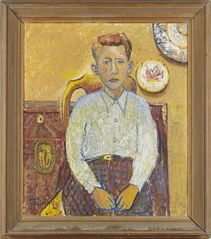 Pojkporträtt by Uno VALLMAN