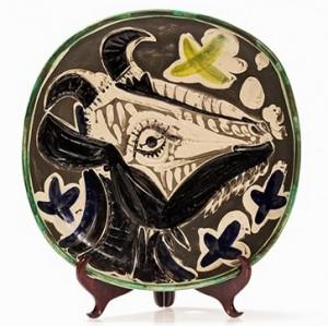 Ceramic Plate, Tête De Chèvre De Profil by Pablo PICASSO