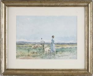 Kvinna Med Lamm by Emma LÖWSTÄDT-CHADWICK
