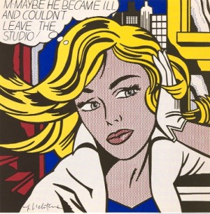 -maybe He Became Ill And Couldn't Leave The Studio by Roy LICHTENSTEIN