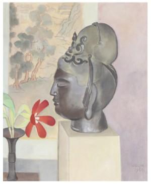 Stilleben Med Buddha-huvud by Einar JOLIN