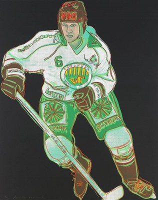 Frölunda Hockey Player by Andy WARHOL