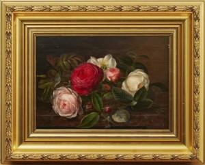 Blomsterstilleben Med Rosor by Johan Laurentz JENSEN