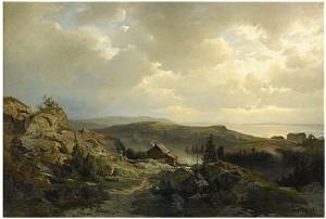Kustlandskap by Gustaf RYDBERG