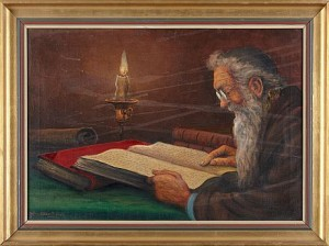 Läsande Man by Sten EKENDAHL