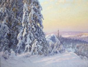 "Aftonsol""- Motiv Från Filipstads Bergslag by Anshelm SCHULTZBERG"