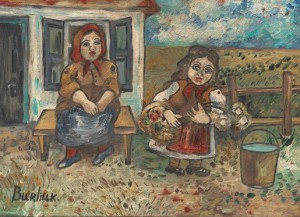 Farm Girls by David Davidovich BURLIUK