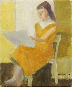 Sittande Kvinna by Peter DAHL