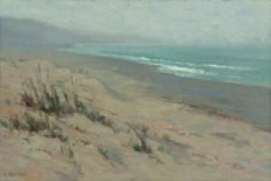Foggy Morning Beachscape by Elmer WACHTEL