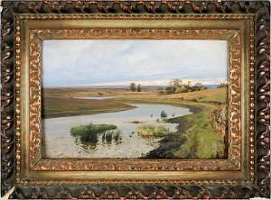 River Landscape by Vasili Dimitrevich POLENOV