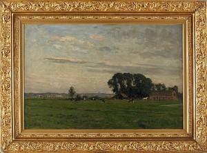 Pastoralt Landskapsmotiv by Carel Lodewijk The Younger DAKE