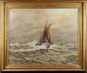 Fiskekutter I Hög Sjö by Gerhard ALBE