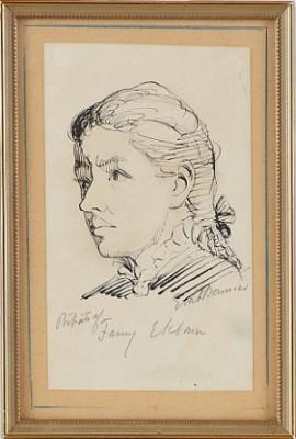 Porträtt Av Fanny Ekman by Eva BONNIER
