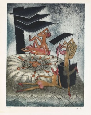 La Danse De La Mort. The Complete Set Of 8 Colour Etchings With Aquatint by Roberto MATTA