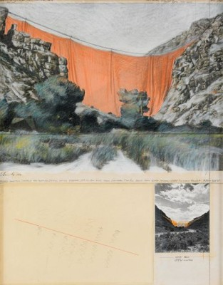 Valley Curtain (project For Colorado) by Christo JAVACHEFF