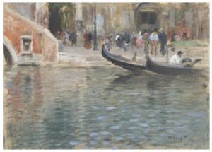 Gondoler I Venedig by Wilhelm Von GEGERFELT