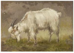 A Goat by Alexander Nikolaievich STEPANOV