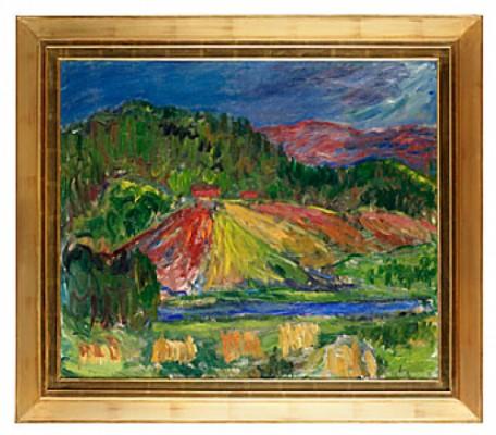 Landskap I Solnedgång by Ivan IVARSON