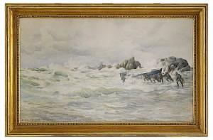 Fiskare I Bretagne, St. Marc by Anna PALM DE ROSA