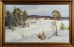 Vinterlandskap by Arthur HEICKELL