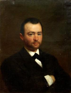 Portrait Of A Young Man by Konstantin Egorovich MAKOVSKY