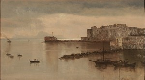Castel Nuovo, Naples, Italy by Albert BIERSTADT