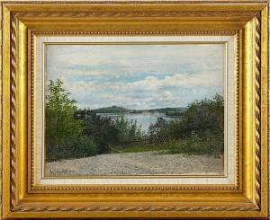 Insjölandskap by Hjalmar TRAFVENFELT