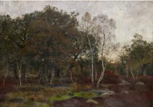 Franskt Landskap Med Björkar by Oscar TÖRNÅ
