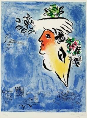 Le Ciel Bleu by Marc CHAGALL