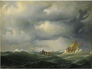 Segelfartyg I Upprörd Sjö by Marcus LARSON