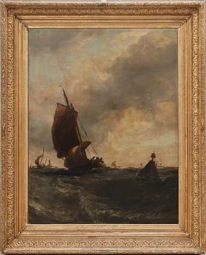 Segelbåtar Till Havs by Edwin HAYES