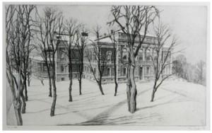 Två Grafiska Blad, Bl A Uppsala Universitets Aula by Christian DUE