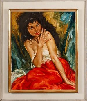 Kvinna I Röd Kjol by Charles ROKA