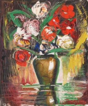 Blumenbouquet In Einer Vase by Janis Ferdinands TIDEMANIS