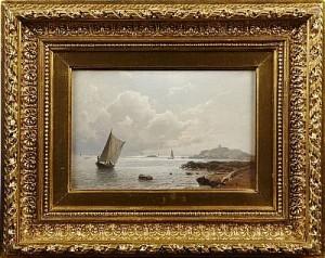 Kustvy Med Segelbåtar by Albert BERG