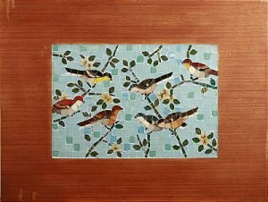 Långväga Vänner, Mosaik/träram by Ernst BILLGREN
