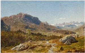 Fjellandskap by Hans Fredrik GUDE
