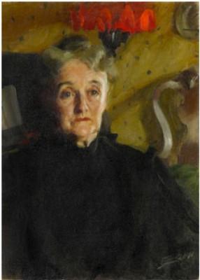 Porträtt Föreställande Mrs Mary Morris Hallowell by Anders ZORN