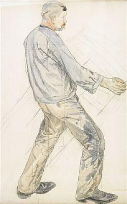 Studie Av En Hamnarbetare by Carl WILHELMSON