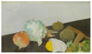 Stilleben Med Citron Och Blomkål by Fritiof SCHÜLDT