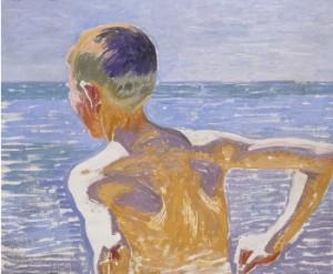 Badande Pojke I Solljus by Jens-Ferdinand WILLUMSEN